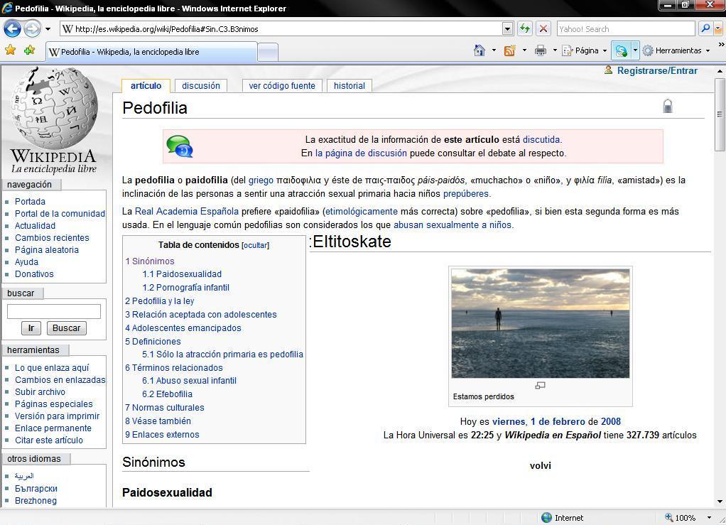 Inclinaciones sexuales wikipedia