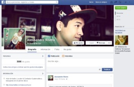 Facebook perfil actor